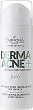 Voňavky, Parfémy, kozmetika Krém s obsahom matovacích AHA kyselín - Farmona Dermaacne+ Moisturising Mattifying Face Cream