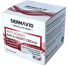 Voňavky, Parfémy, kozmetika Krém s retinolom - Derma V10 Innovations Anti Ageing Day & Night Cream 45+