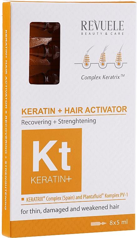 Aktivátor na vlasy - Revuele Keratin+ Ampoules Hair Restoration Activator — Obrázky N1