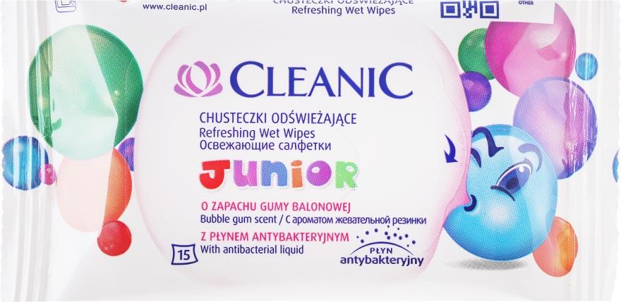 Detské mokré obrúsky, 15ks - Cleanic Junior Wipes — Obrázky N1
