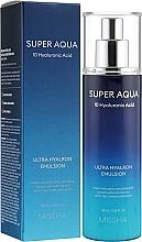 Voňavky, Parfémy, kozmetika Hydratačná pleťová emulzia - Missha Super Aqua Ultra Hyalron Emulsion
