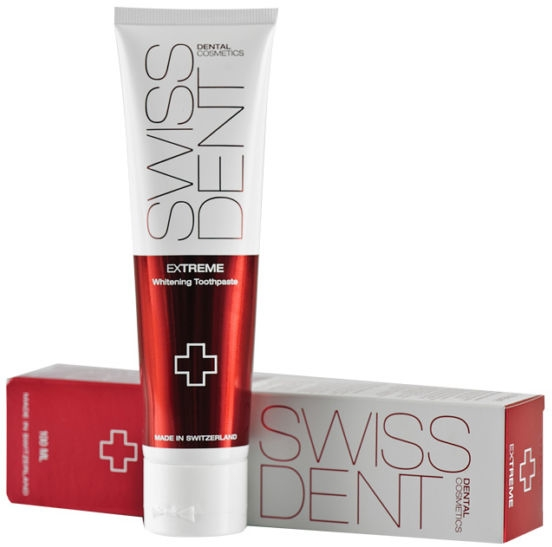 Bieliaca zubná pasta - SWISSDENT Extreme Whitening Toothcream for Stained Teeth — Obrázky N5