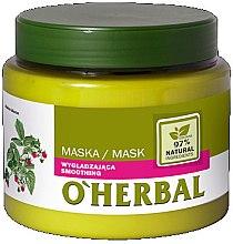 Voňavky, Parfémy, kozmetika Vyhladzujúca maska pre lesk vlasov s malinovým extraktom - O'Herbal