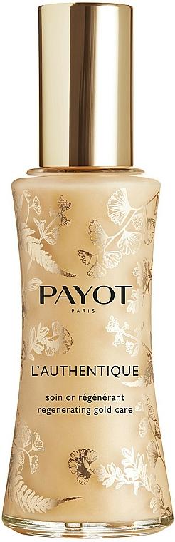 Revitalizučný hodvábny fluid na tvári - Payot L'Authentique Regenerating Gold Care