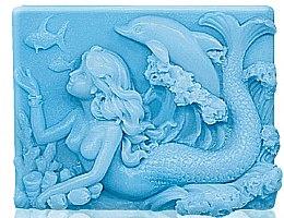"""Voňavky, Parfémy, kozmetika Glycerínové mydlo """"Morská siréna"""" - Bulgarian Rose Glycerin Fragrant Soap Blue Mermaid"""