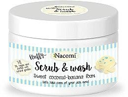 """Voňavky, Parfémy, kozmetika Peelingová pena na umývanie """"Kokos-banana"""" - Nacomi Scrub and Wash Sweet Coconut-Banana Foam"""