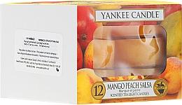 Voňavky, Parfémy, kozmetika Čajové sviečky - Yankee Candle Scented Tea Light Candles Mango Peach Salsa