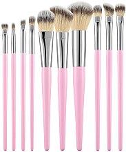 Voňavky, Parfémy, kozmetika Sada profesionálnych štetcov na líčenie, 10ks, ružové - Tools For Beauty