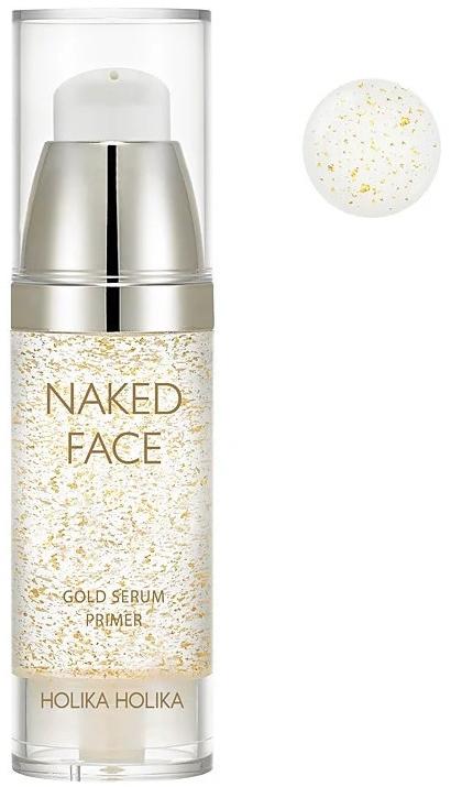 Primer-sérum pre žiarivosť - Holika Holika Naked Face Gold Serum Primer