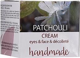"Voňavky, Parfémy, kozmetika Krém na tvár a dekolt ""Pačuli"" - Hristina Cosmetics Handmade Patchouli Eyes & Face & Decollete Cream"