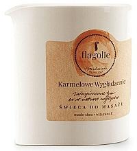 """Voňavky, Parfémy, kozmetika Masážna sviečka """"Vyhladzujúci karamel"""" - Flagolie Caramel Smoothing Massage Candle"""