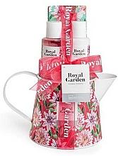 Voňavky, Parfémy, kozmetika Sada - IDC Institute Royal Garden (sh/g/100ml+b/lot/100ml+salt/150g+soap/25g)
