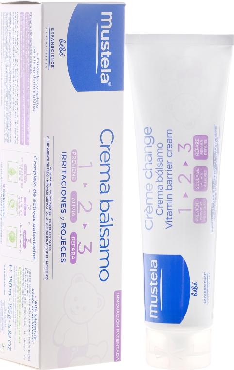 Ochranný krém pod plienku 1 2 3 - Mustela Bebe 1 2 3 Vitamin Barrier Cream