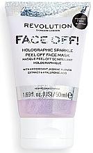 Voňavky, Parfémy, kozmetika Peelingujúca maska na tvár - Revolution Skincare Face Off! Holographic Sparkle Peel Off Face Mask