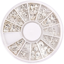 Voňavky, Parfémy, kozmetika Ozdoba na nechty v organizere - Peggy Sage Carousel For Nail Decorations Summer Silver