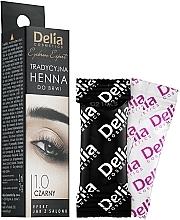 Voňavky, Parfémy, kozmetika Farba na obočie v prášku, čierna - Delia Brow Dye Henna Traditional Black