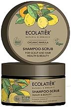 """Voňavky, Parfémy, kozmetika Scrubový šampón na vlasy a pokožku hlavy """"Zdravie a krása"""" - Ecolatier Organic Marula Shampoo-Scrub"""