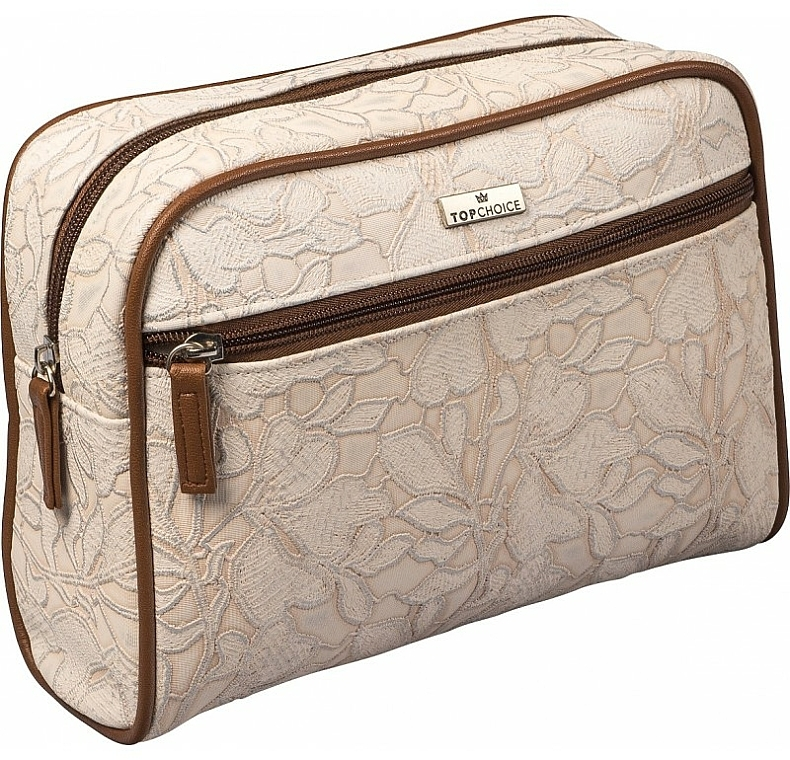 """Dámska kozmetická taška """"Lace"""", 98628, svetlohnedá - Top Choice"""