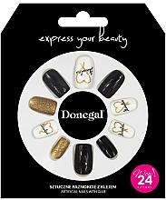Voňavky, Parfémy, kozmetika Sada umelých nechtov s lepidlom, 3056 - Donegal Express Your Beauty