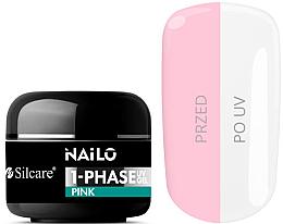 Voňavky, Parfémy, kozmetika Gél na nechty - Silcare Nailo 1-Phase Gel UV Pink
