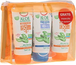 Voňavky, Parfémy, kozmetika Sada - Equilibra Aloe Line (cr/75ml + b/milk/75 + cr/75ml + bag)