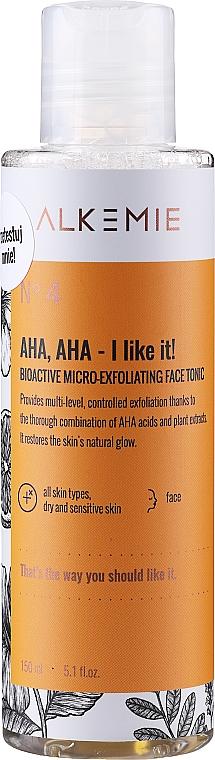 Mikroexfoliačné tonikum na tvár - Alkemie Nature's Treasure Aha Aha I Like It! Tonic