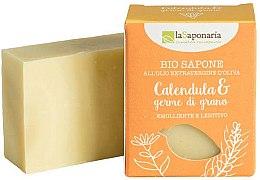 Voňavky, Parfémy, kozmetika Mydlo s extraktom nechtíka a olejom z pšeničných klíčkov - La Saponaria Calendula & Wheat Germ Soap