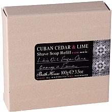 Voňavky, Parfémy, kozmetika Bath House Cuban Cedar & Lime - Mydlo na holenie (vymeniteľná jednotka)