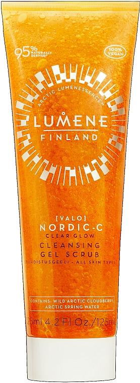 Čistiaci gélový scrub na tvár - Lumene Valo Nordic-C Clear Glow Cleansing Gel Scrub