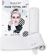 """Voňavky, Parfémy, kozmetika Cestovná sada uterákov na tvár, biele """"MakeTravel"""" - Makeup Face Towel Set"""