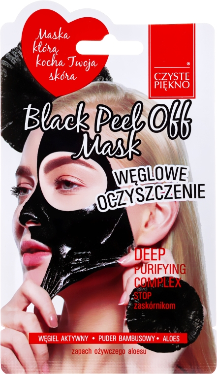 "Maska na tvár ""Čierna"" - Czyste Piekno Black Peel Off Mask"