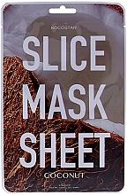"""Voňavky, Parfémy, kozmetika Plátková maska na tvár """"Kokos"""" - Kocostar Slice Mask Sheet Coconut"""
