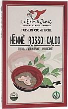 """Voňavky, Parfémy, kozmetika Prášok na vlasy """"Rosso Caldo"""" - Le Erbe di Janas Red Henna Hot Shades"""