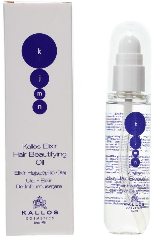 Olej na lesk vlasov - Kallos Cosmetics KJMN Elixir Hair Beautifying Oil