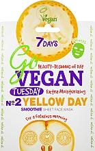 """Voňavky, Parfémy, kozmetika Textilná maska na tvár """"Na dobré ráno"""" - 7 Days Go Vegan Tuesday Yellow Day"""
