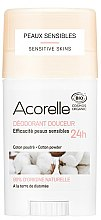 Voňavky, Parfémy, kozmetika Tuhý dezodorant - Acorelle Deodorant Stick Gel Cotton Powder
