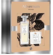 Voňavky, Parfémy, kozmetika Allvernum Coffee & Amber - Sada (edp/50ml + candle/100g)