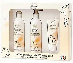 Voňavky, Parfémy, kozmetika Sada - Galeo Organic Donkey Milk Scincare Set (sh/gel/250ml + b/milk/250ml + h/cr/75ml)