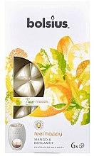 """Voňavky, Parfémy, kozmetika Vonný vosk """"Mango a Bergamot"""" - Bolsius True Moods Feel Happy Mango & Bergamot"""