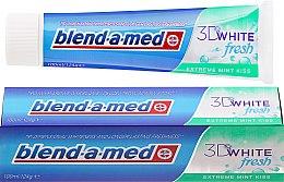 """Voňavky, Parfémy, kozmetika Zubná pasta """"Mätový bozk"""" - Blend-a-med 3D White Fresh Extreme Mint Kiss Toothpaste"""