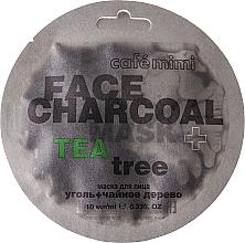 """Voňavky, Parfémy, kozmetika Maska na tvár """"Bambusové uhlie a čajovník"""" - Cafe Mimi Charkoal & Tea Tree Face Mask"""