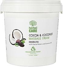Voňavky, Parfémy, kozmetika Masážny krém s kakaom a kokosom, neparfumovaný - Bulgarian Rose Herbal Care Cocoa & Coconut Massage Cream Odorless