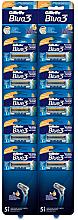 Voňavky, Parfémy, kozmetika Sada jednorazových holiacich strojčekov, 10 ks - Gillette Blue 3