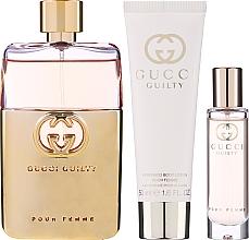 Voňavky, Parfémy, kozmetika Gucci Guilty Pour Femme - Sada (edp/90ml + b/lot/50ml + edp/mini/15ml)