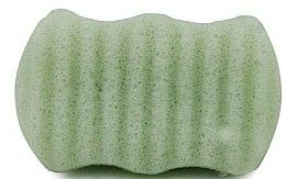 """Voňavky, Parfémy, kozmetika Špongia na tvár a telo """"Zelený čaj"""" - Bebevisa Konjac Sponge"""