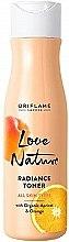 Voňavky, Parfémy, kozmetika Obnovujúce tonikum na tvár s bio marhuľou a pomarančom - Oriflame Love Nature Radiance Toner