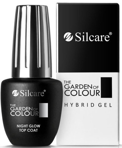 Top na gél lak - Silcare The Garden of Colour Night Glow Top Coat