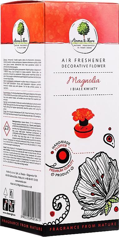 """Osviežovač vzduchu, kvet """"Magnólia a biele kvety"""" - Aroma & More Air Freshener"""