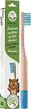 Voňavky, Parfémy, kozmetika Bambusová zubná kefka pre deti, mäkka, modrá - Biomika Natural Bamboo Toothbrush