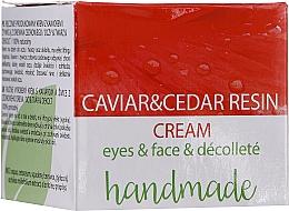Voňavky, Parfémy, kozmetika Krém na oči, tvár a dekolt s extraktom z kaviáru a živicou cédrového stromu - Hristina Cosmetics Handmade Caviar & Cedar Resin Cream